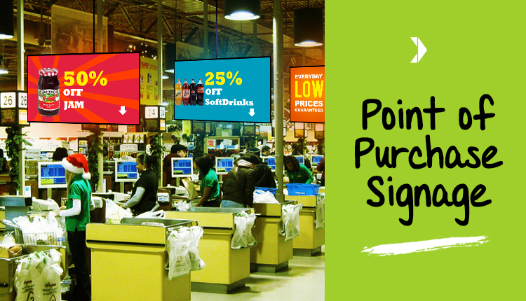 point of purchase Increase the appeal of your merchandise by highlighting them on a high-quality point-of-purchase display, custom-made for your needs.