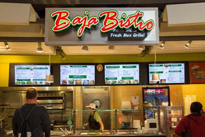 Baja Bistro Digital Menu Board