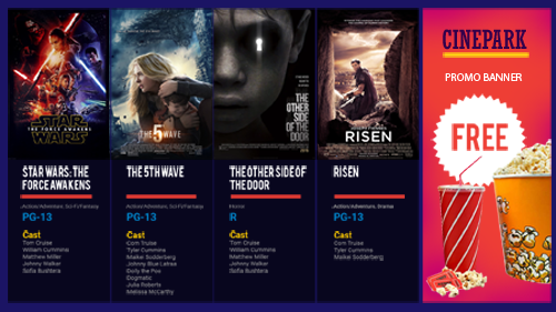 The Digital Box Office Display Solution for Movie Theaters  automatically generates and deploys animated, dynamic HD movie posters with showtimes, ratings, and trailers.