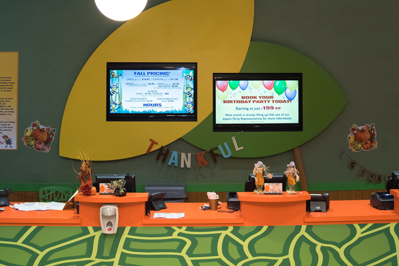 Digital Sigange at Family Entertainment Center
