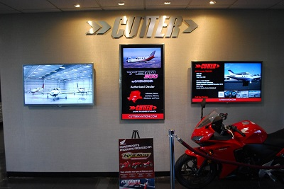 Digital Signage at Cutter Aviation
