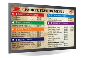Digital SIgnage for Menu Boards and Cafetarias