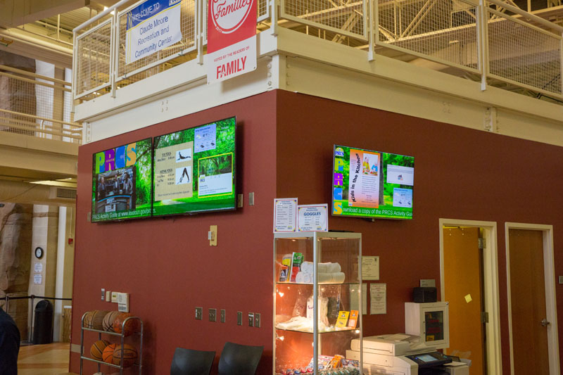Digital Signage at Loudoun County Parks and Recreation powered by Mvix