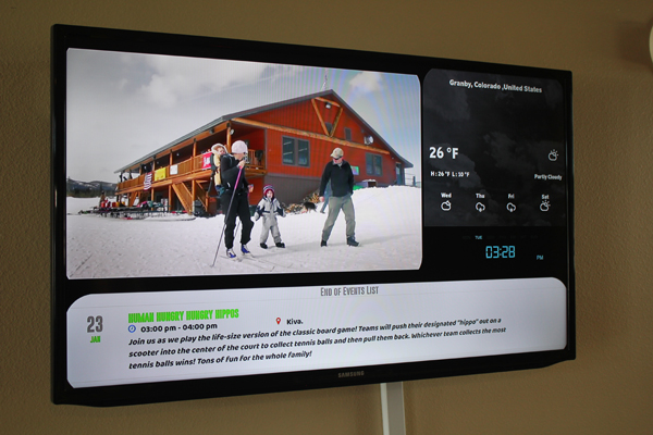 digital signage at YMCA of the Rockies