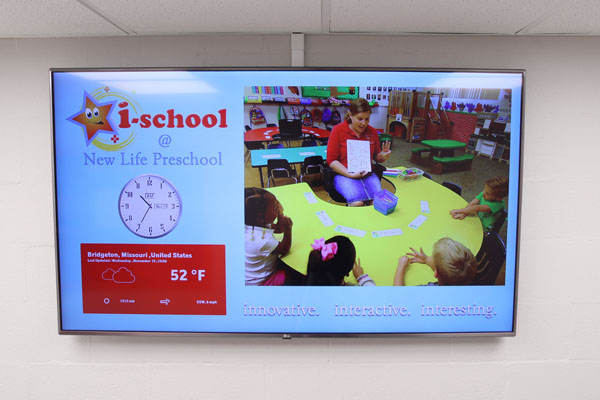 digital signage at Missouri school