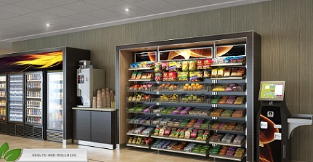 Digital Menu Board Systems for Micromarkets installed by Sheehan Brothers Vending