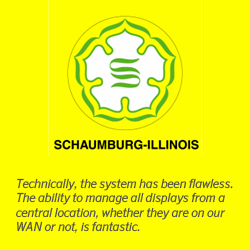 Village of Schaumburg, one of the largest communities in Chicago's Northwest Suburbs, has selected Mvix digital signage systems for displaying customized information for residents and visitors across various sign locations